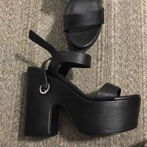 Steve Madden Black Platform Heels